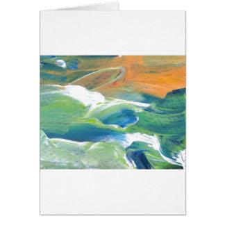 土星の海洋波の海の芸術の抽象芸術のリング カード