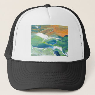 土星の海洋波の海の芸術の抽象芸術のリング キャップ
