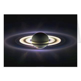土星の環の挨拶状 カード