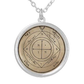 土星の第5星形五角形 シルバープレートネックレス