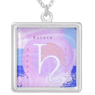 土星の(占星術の)十二宮図の記号 オリジナルネックレス