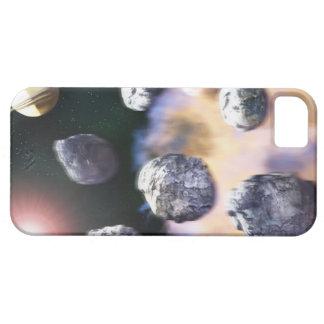 土星著小惑星そして赤い星(デジタル iPhone 5 カバー