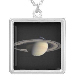 土星 シルバープレートネックレス