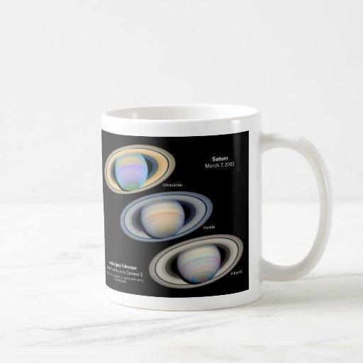 土星-ハッブルのイメージ ベーシックホワイトマグカップ