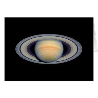 土星(ハッブルの望遠鏡) カード