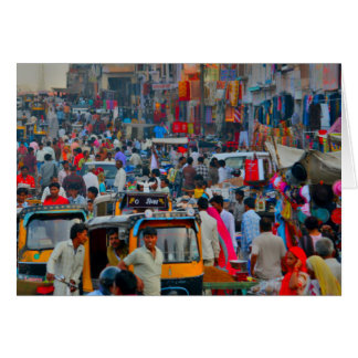 土曜日のショッピング、インド カード