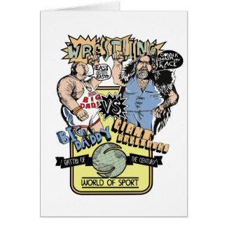 土曜日のレスリング カード