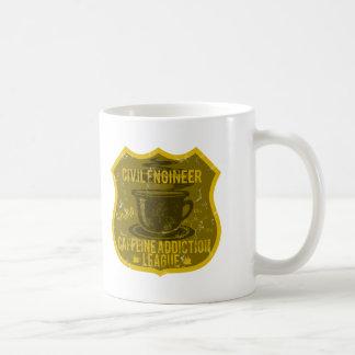 土木技師のカフェインの常習リーグ コーヒーマグカップ