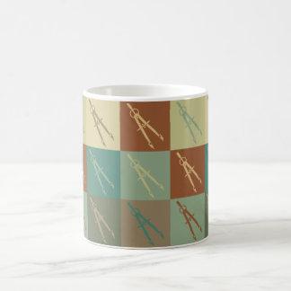 土木技師のポップアート コーヒーマグカップ