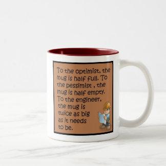 土木技師の発言 ツートーンマグカップ