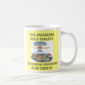 土木技師はターゲット、土木技師を…造ります コーヒーマグカップ