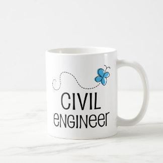 土木技師(蝶)のためのギフトのアイディア コーヒーマグカップ