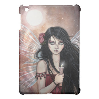 土製の薄暗がりのゴシック様式ファンタジーの妖精のiPadの場合 iPad Miniケース