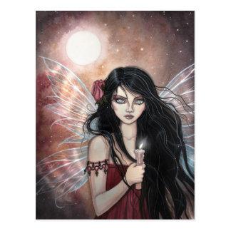 土製の薄暗がりのファンタジーの妖精の郵便はがき ポストカード