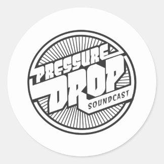 圧力降下のSoundcastのロゴ ラウンドシール