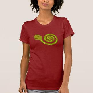 圧延のヘビの落書きの芸術 Tシャツ