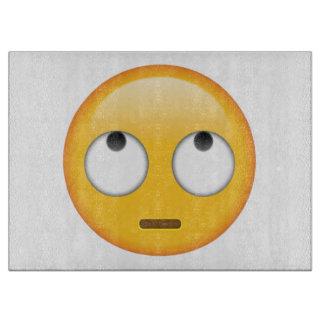 圧延の目が付いている顔- Emoji カッティングボード