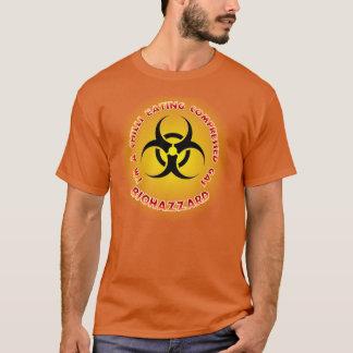 圧縮されたガスのBiohazzardのワイシャツを食べる唐辛子 Tシャツ