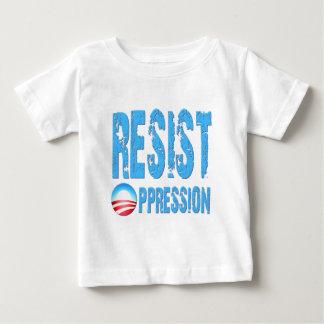 圧迫のアンチオバマに抵抗して下さい ベビーTシャツ
