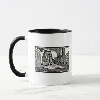 在庫の人そして女性 マグカップ