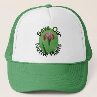 在来植物のアイリス帽子を救って下さい キャップ