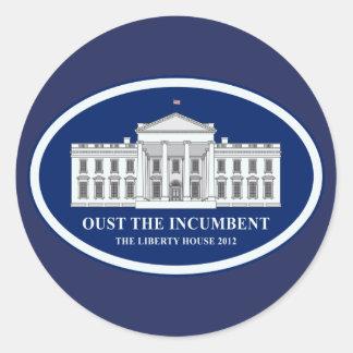 在職者-自由の家2012年--を追い払って下さい ラウンドシール