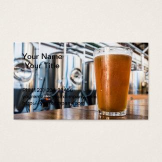 地ビールのビールのガラス 名刺