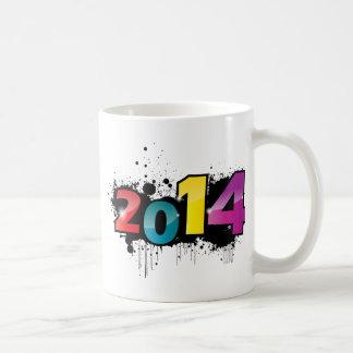 地下の新年のデザイン。 2014年 コーヒーマグカップ