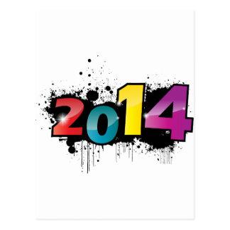 地下の新年のデザイン。 2014年 ポストカード