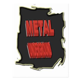 地下金属の黒い民族的背景 ポストカード