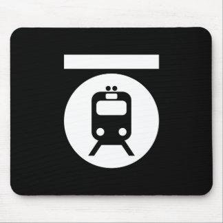 地下鉄のピクトグラムのマウスパッド マウスパッド