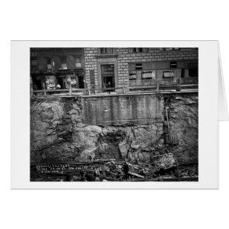地下鉄の掘削第7 Aveおよび24第25通り カード