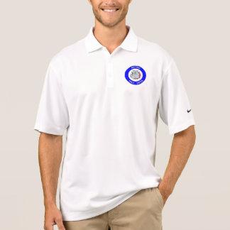地下鉄の気違い犬-ナイキDri適合のポロシャツ-白 ポロシャツ