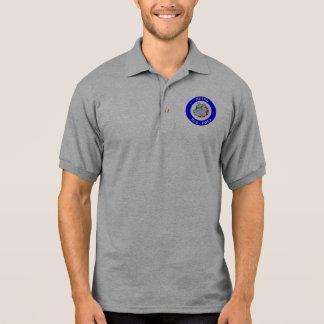 地下鉄の気違い犬- Gildanジャージーのポロシャツ-灰色 ポロシャツ