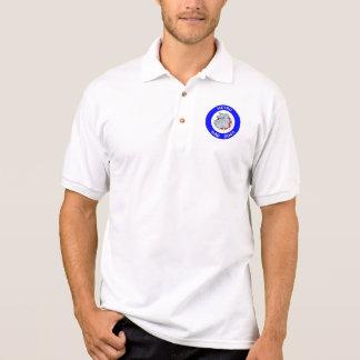 地下鉄の気違い犬- Gildanジャージーのポロシャツ-白 ポロシャツ