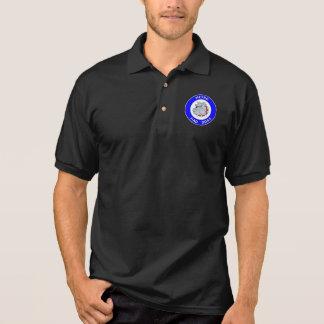地下鉄の気違い犬- Gildanジャージーのポロシャツ-黒 ポロシャツ