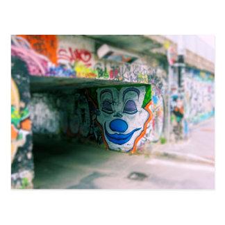 地下鉄の落書き-ミラノ、イタリア ポストカード