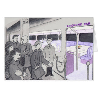 地下鉄の通勤者の幸運を祈ります カード