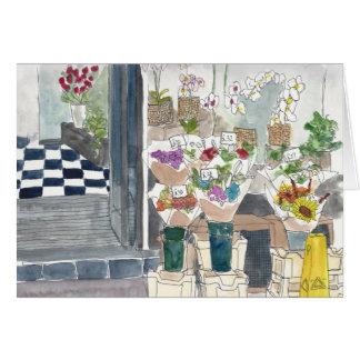 地下鉄の駅の花屋 カード