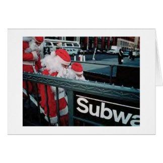 地下鉄サンタ カード