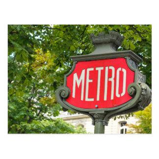 地下鉄パリ ポストカード