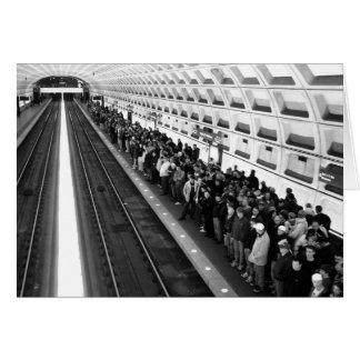 地下鉄B&Wの挨拶状 カード
