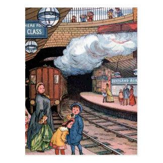 """""""地下、ロンドン""""のヴィンテージのイラストレーション ポストカード"""