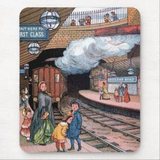 """""""地下、ロンドン""""のヴィンテージのイラストレーション マウスパッド"""