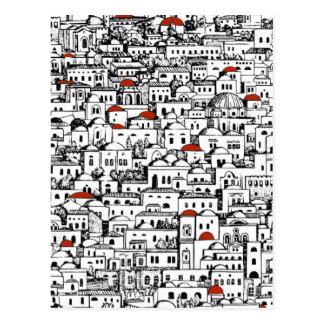 地中海のな都市 ポストカード