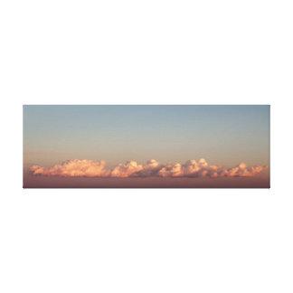 地中海のの上の雲 キャンバスプリント