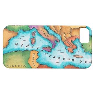地中海の地図 iPhone SE/5/5s ケース