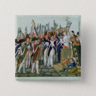 地区の宣誓、1790年2月 5.1CM 正方形バッジ