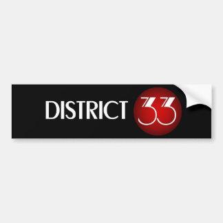 地区33のブランドのロゴ(白い文字) バンパーステッカー