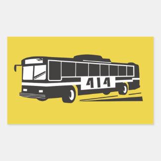 地区414のバス運転手のステッカー 長方形シール